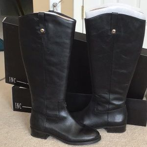 NWT-INC Black Riding Boots Size 8.5W